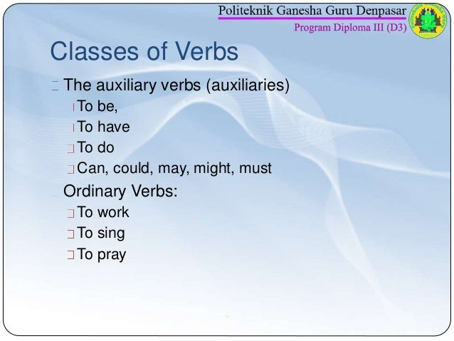Pert 2 Verb And Adjective