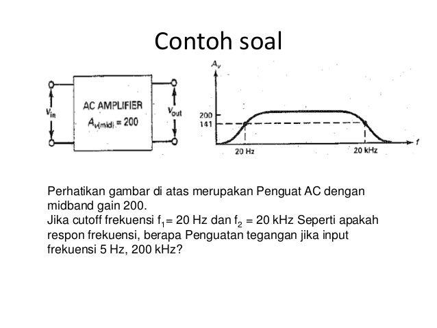 Pert 3 elektronika ii tanggapan frekuensi rendah 10 contoh soal ccuart Image collections