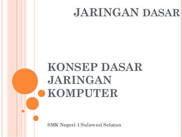 JARINGAN DASAR  KONSEP DASAR JARINGAN KOMPUTER SMK Negeri 1 Sulawesi Selatan