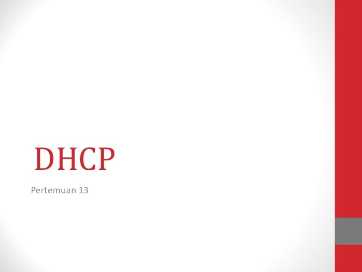 DHCP Pertemuan 13
