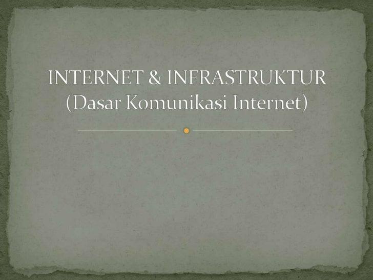 INTERNET & INFRASTRUKTUR(Dasar Komunikasi Internet)<br />
