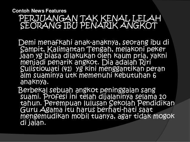 Contoh berita feature radio