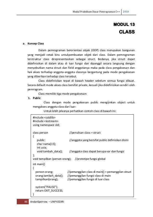 Modul Praktikum Dasar Pemrograman C++     2010                                                                            ...