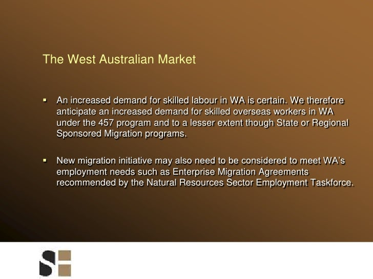 The West Australian Market<br />An increased demand for skilled labour in WA is certain. We therefore anticipate an increa...
