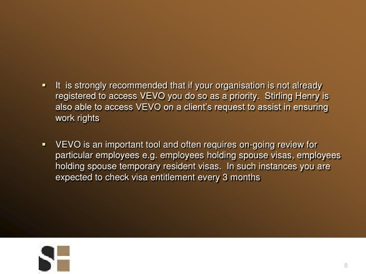 8<br />It  is strongly recommended that if your organisation is not already registered to access VEVO you do so as a prior...