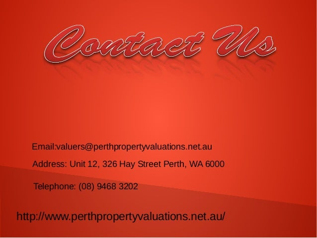Create You Property Valuation Report With Perth Property Valuers