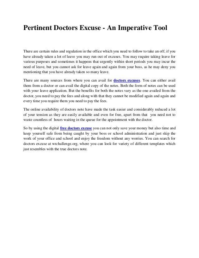 free doctors note generator