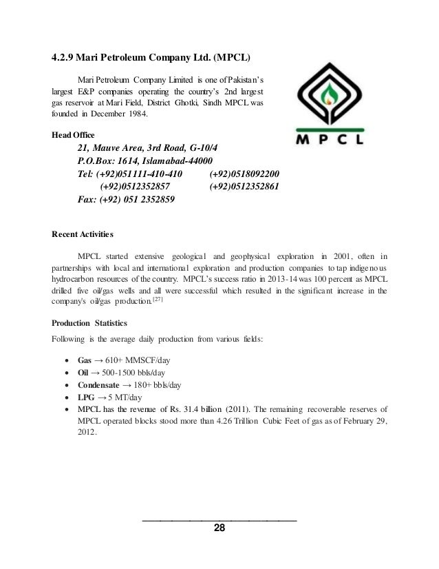 Pertoleum companies in pakistan
