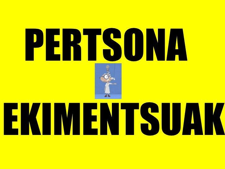 PERTSONA  EKIMENTSUAK