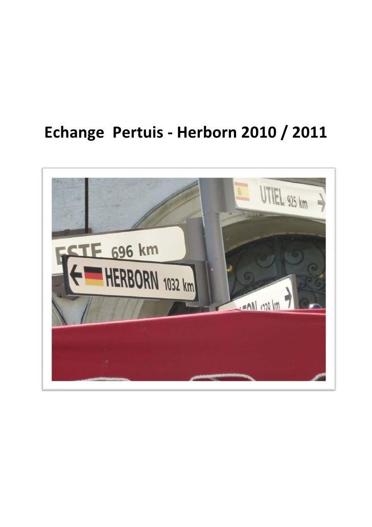 Echange Pertuis - Herborn 2010 / 2011