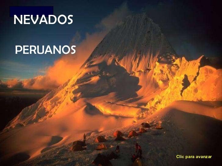 NEVADOS PERUANOS Clic para avanzar