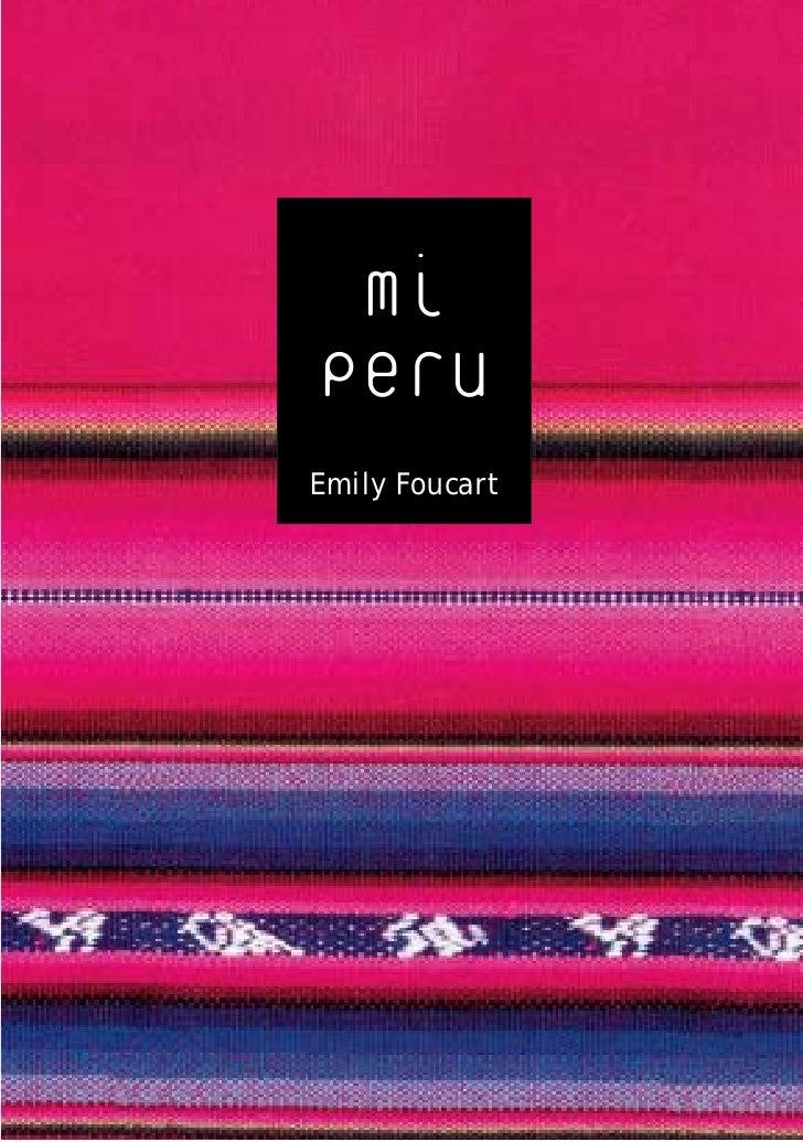 mi Peru Emily Foucart