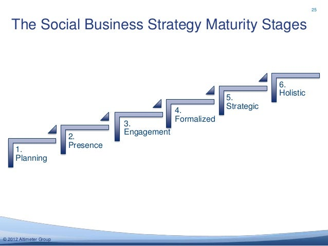 25   The Social Business Strategy Maturity Stages                                                                         ...