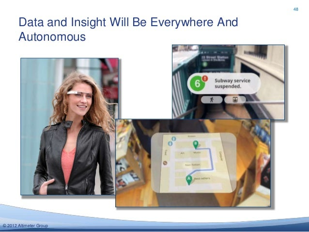 48       Data and Insight Will Be Everywhere And       Autonomous© 2012 Altimeter Group
