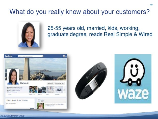 49       What do you really know about your customers?                         25-55 years old, married, kids, working,   ...