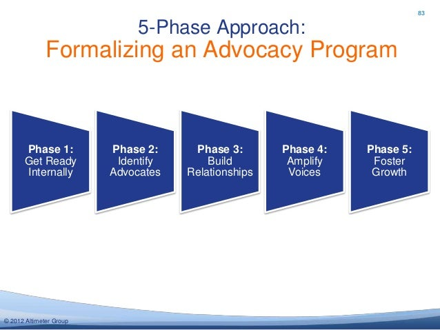 83                              5-Phase Approach:              Formalizing an Advocacy Program      Phase 1:           Pha...