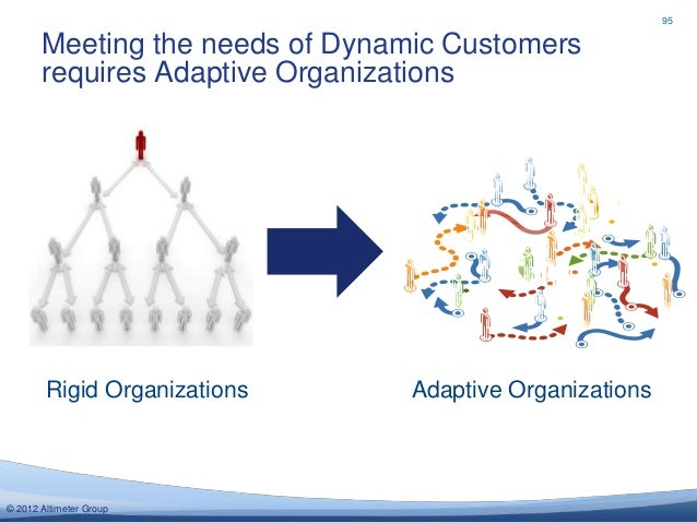 95       Meeting the needs of Dynamic Customers       requires Adaptive Organizations        Rigid Organizations      Adap...