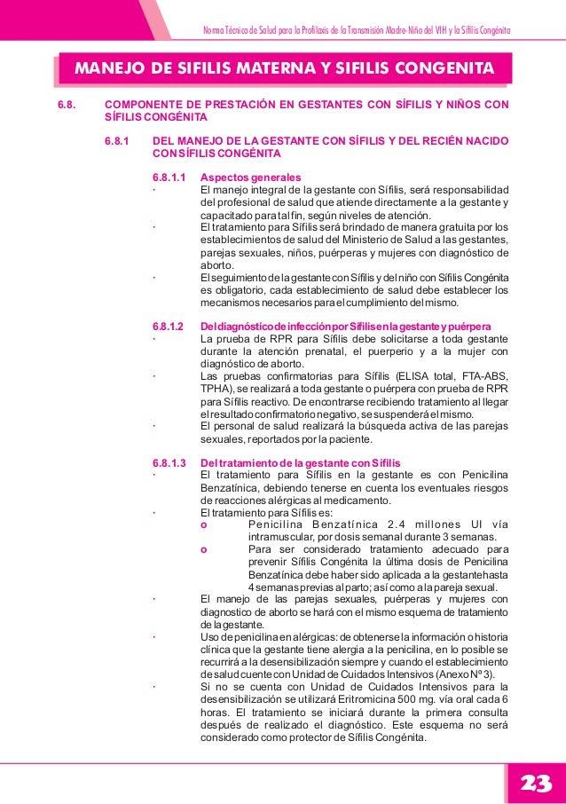 Guia practica clinica de prevencion de transision vertical de vih sif - Liquido preseminal vih casos ...