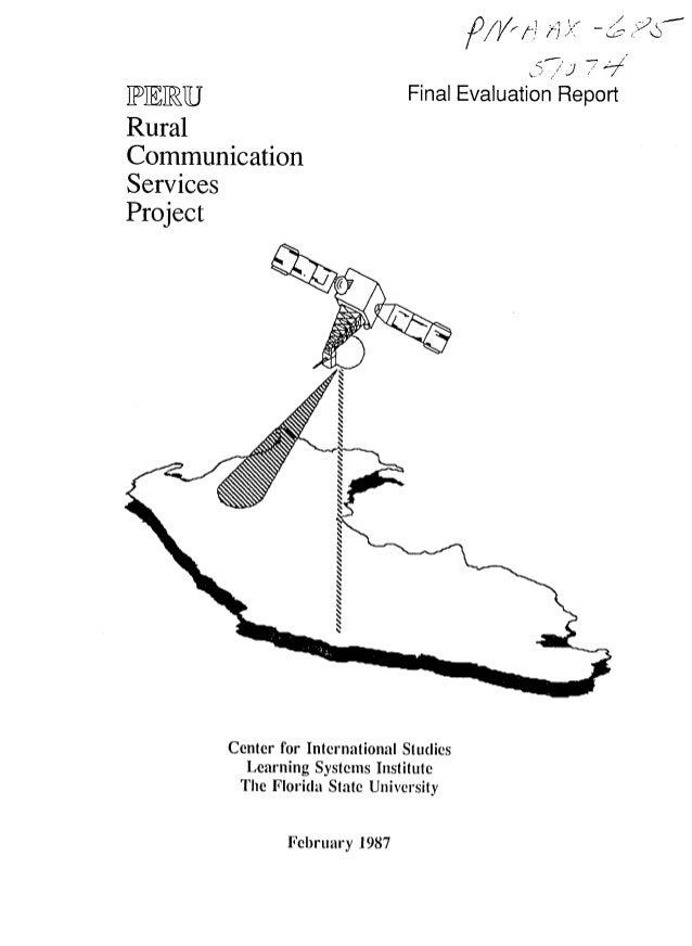 ]PF ]RU                             Final Evaluation ReportRuralCommunicationServicesProject          Center for Internati...