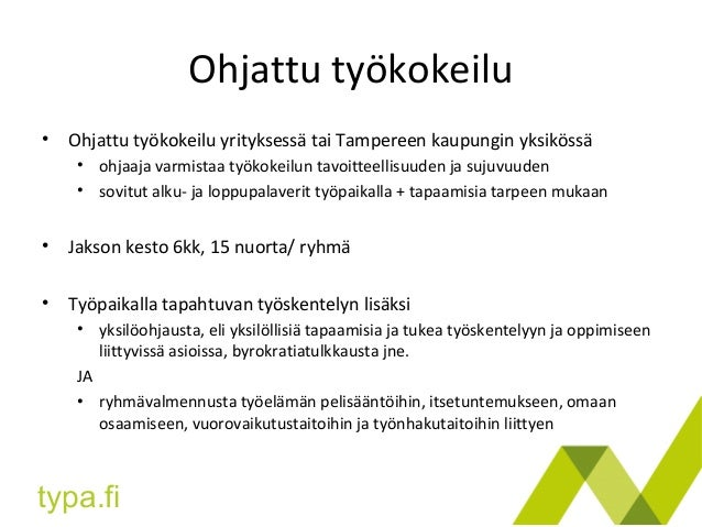 Työkokeilu Tampere