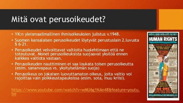Suomen Kansalaisen Perusoikeudet
