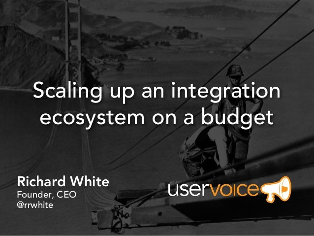 Scaling up an integration    ecosystem on a budgetRichard WhiteFounder, CEO@rrwhite