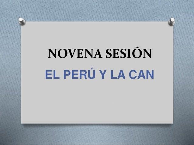 NOVENA SESIÓN EL PERÚ Y LA CAN