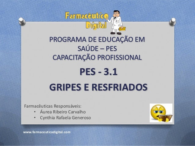 PROGRAMA DE EDUCAÇÃO EM                      SAÚDE – PES               CAPACITAÇÃO PROFISSIONAL                    PES - 3...
