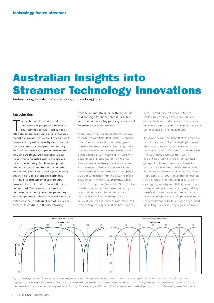 technology focus: streamer     Australian Insights into Streamer Technology Innovations Andrew Long, Petroleum Geo-Service...