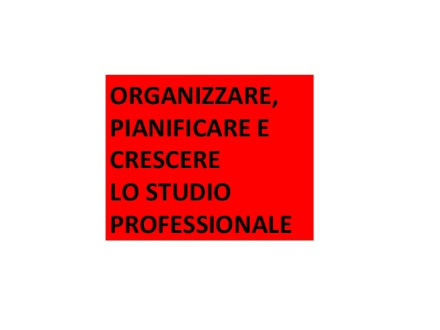 ORGANIZZARE, PIANIFICARE E CRESCERE LO STUDIO PROFESSIONALE Tour ACEF 2013/2014 – Organizzazione per lo Studio Professiona...