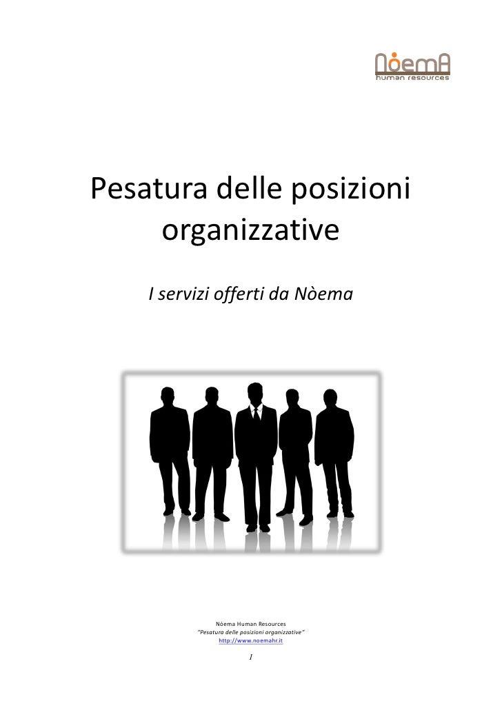 """Pesatura delle posizioni     organizzative    I servizi offerti da Nòema                Nòema Human Resources          """"Pe..."""