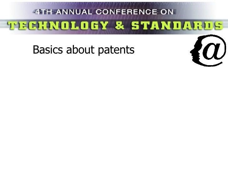 Basics about patents