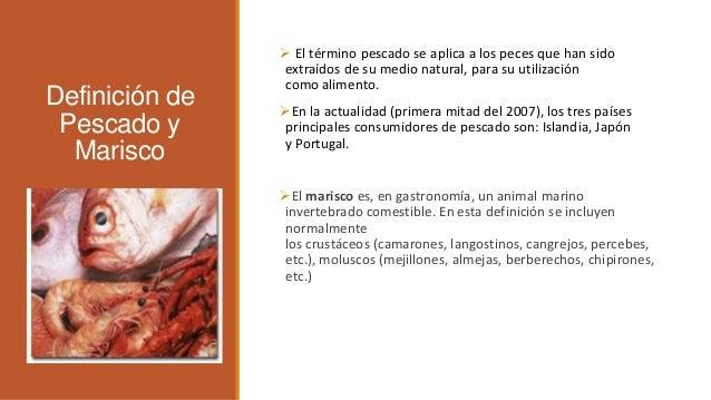Pescados y mariscos 1 for Definicion de gastronomia