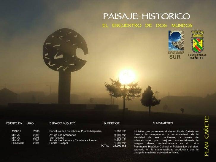 PROYECTO  DE  RECUPERACION  DEL  PATRIMONIO  HISTORICO  Y  DESARROLLO  TURISTICO  DE  CAÑETE PLAN  CAÑETE   CORPORACION PA...