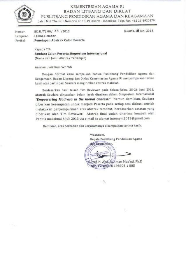 DAFTAR CALON PESERTA YANG DITERIMA SEBAGAI PESERTA AKTIF PADA SIMPOSIUM INTERNASIONAL PENDIDIKAN AGAMA DAN KEAGAMAAN PUSLI...