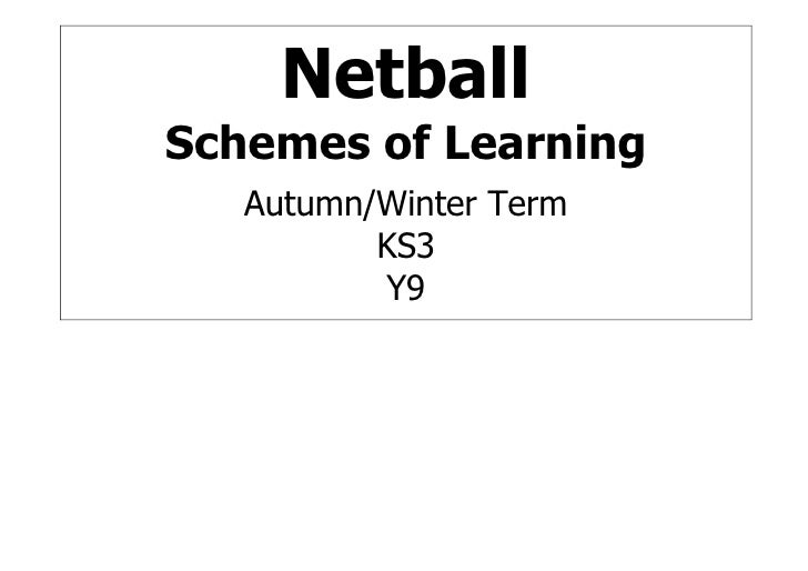 Netball Schemes of Learning    Autumn/Winter Term           KS3           Y9