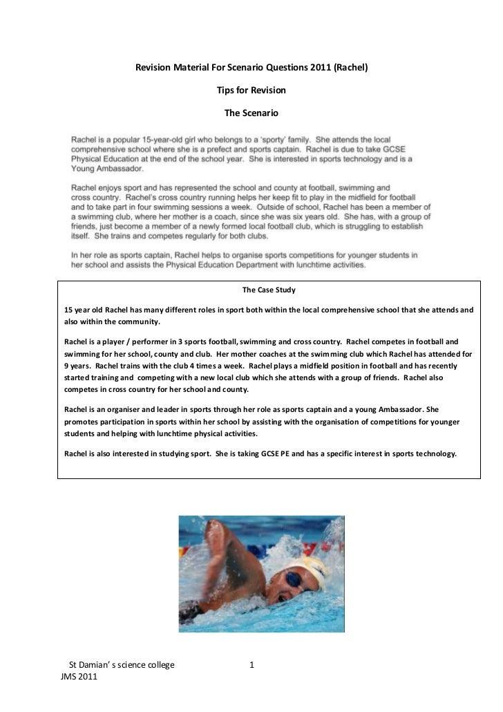 Revision Material For Scenario Questions 2011 (Rachel)<br />Tips for Revision <br />The Scenario<br />-476252280286The Cas...