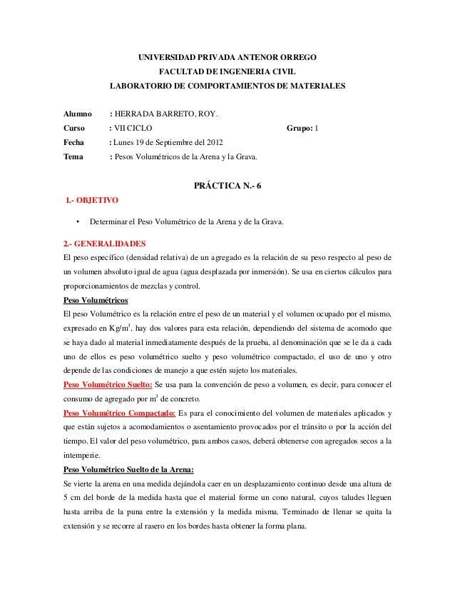 UNIVERSIDAD PRIVADA ANTENOR ORREGO                             FACULTAD DE INGENIERIA CIVIL              LABORATORIO DE CO...