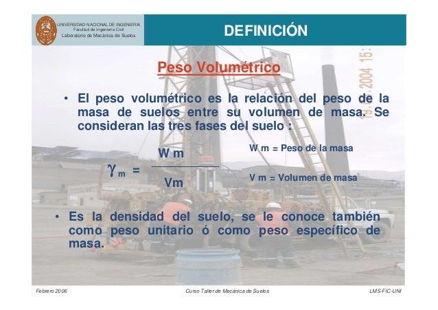 Febrero 2006 Curso Taller de Mecánica de Suelos LMS-FIC-UNI UNIVERSIDAD NACIONAL DE INGENIERIA Facultad de Ingeniería Civi...