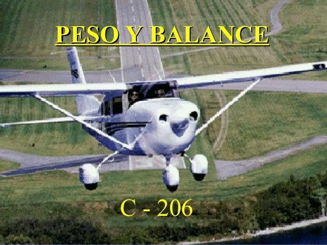 PESO Y BALANCEPESO Y BALANCE C - 206