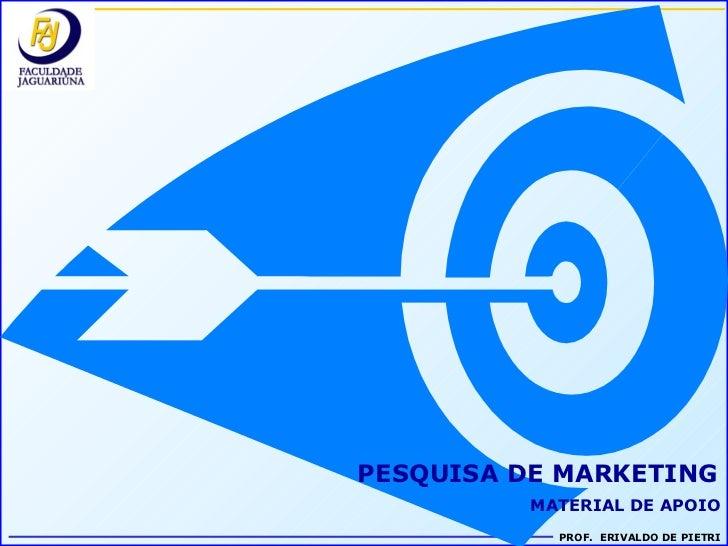 PESQUISA DE MARKETING MATERIAL DE APOIO