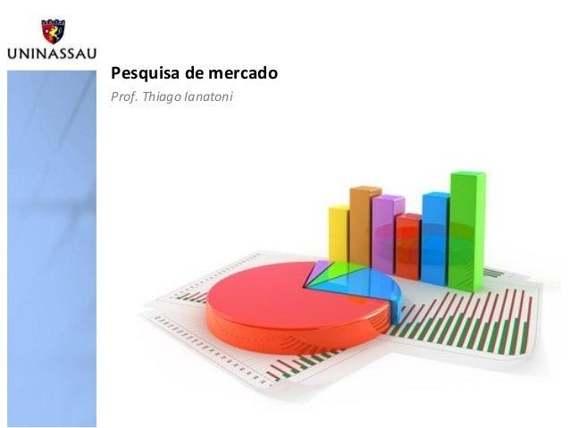 Pesquisa de mercadoProf. Thiago Ianatoni