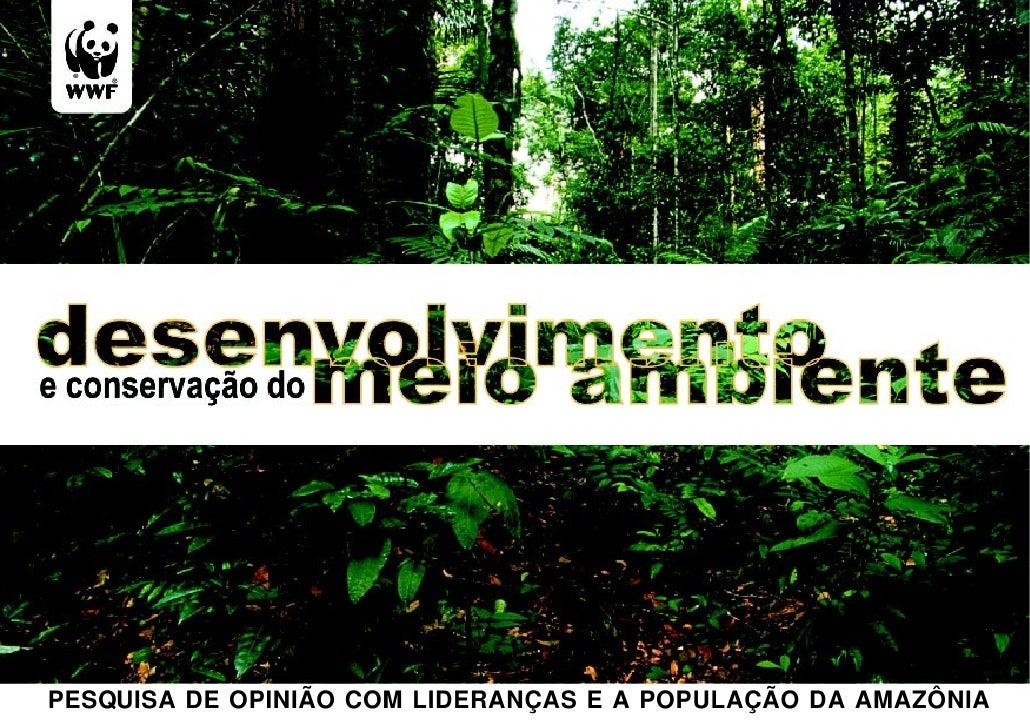 PESQUISA DE OPINIÃO COM LIDERANÇAS E A POPULAÇÃO DA AMAZÔNIA