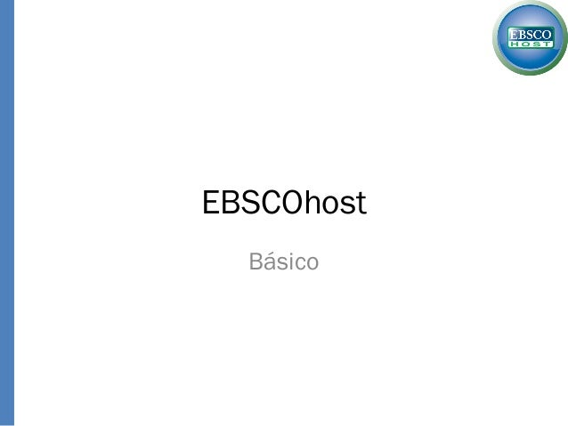 EBSCOhostBásico