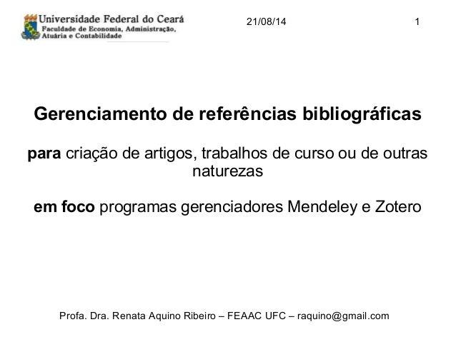 Gerenciamento de referências bibliográficas para criação de artigos, trabalhos de curso ou de outras naturezas em foco pro...