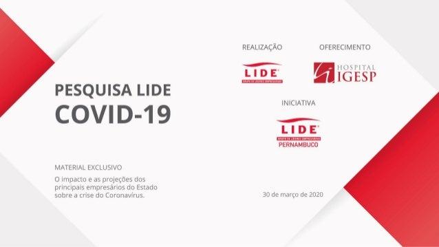 Pesquisa sobre a covid-19 com empresários de Pernambuco
