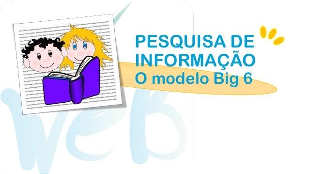 PESQUISA DEINFORMAÇÃOO modelo Big 6
