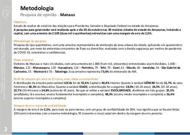 Pesquisa Eleitoral Eleições 2022 Amazonas Slide 2