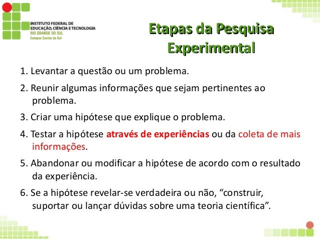Pesquisa experimental Slide 3