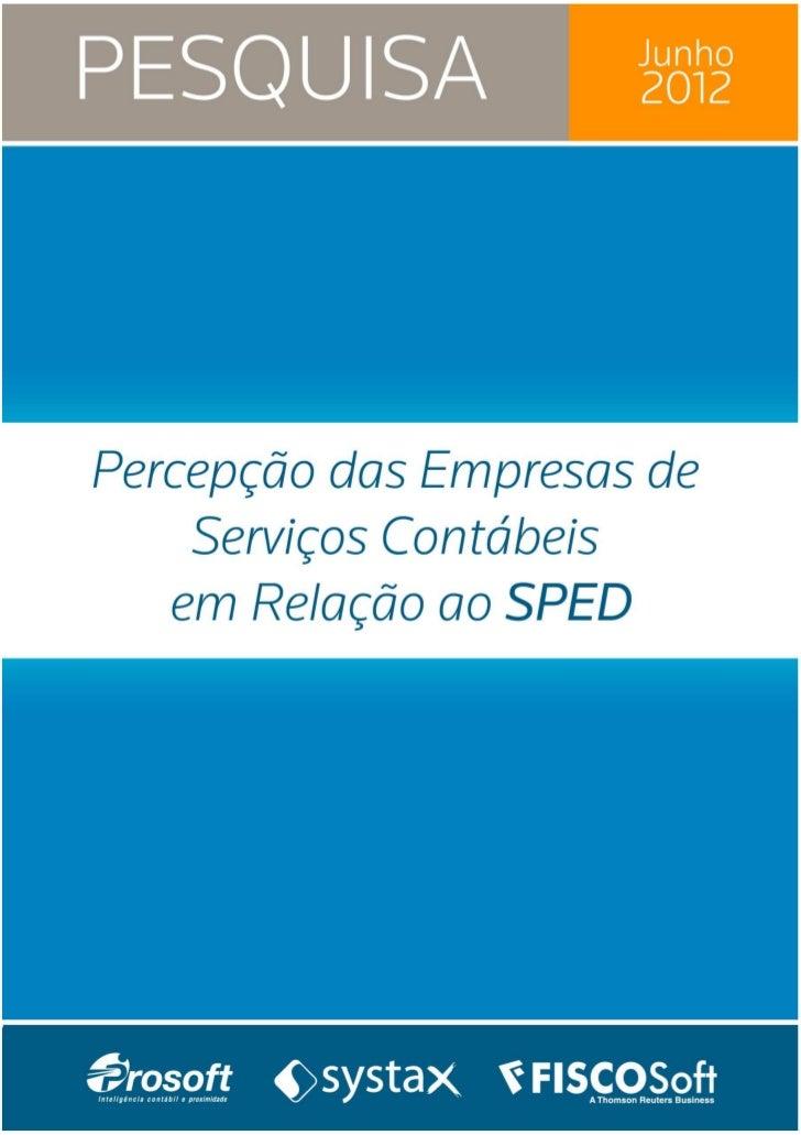 PERCEPÇÃO DAS EMPRESAS DE SERVIÇOS                                                     2012          CONTÁBEIS EM RELAÇÃO ...